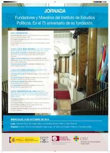 Jornada 75 Aniversario fundación Instituto de Estudios Políticos